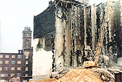 Abbruch Rolandmühle 1979